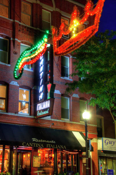 Photograph - Cantina Italiana - Boston North End by Joann Vitali