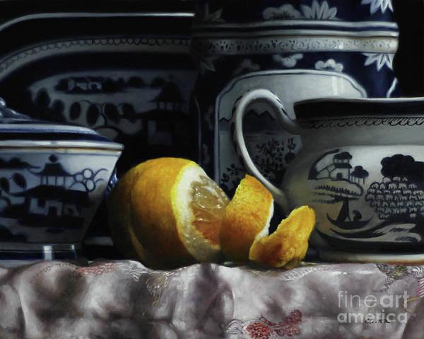 Silk Painting - Canton/lemon/silk by Lawrence Preston