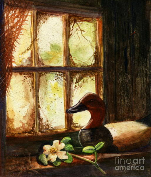 Netting Painting - Canvasback Decoy II by Marilyn Smith