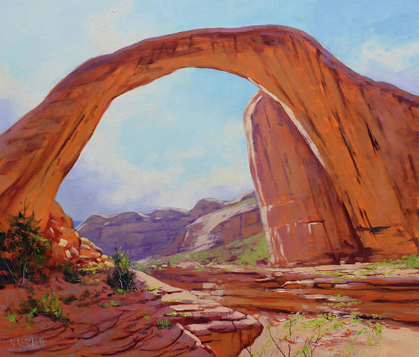 Southwestern Painting - Canyon Arch by Graham Gercken