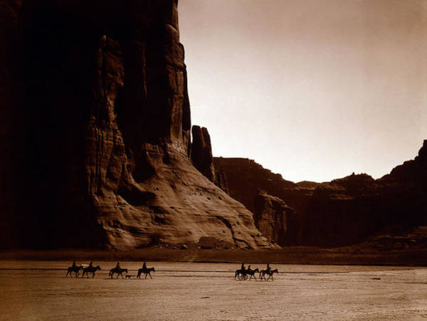 Photograph - Canyon De Chelly 2c Navajo by Edward Curtis Presented by Joy of Life Art