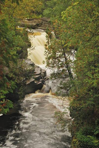 Sturgeon River Photograph - Canyon Falls 2 by Michael Peychich