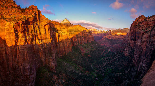Photograph - Canyon Overlook Sunrise Zion National Park by Scott McGuire
