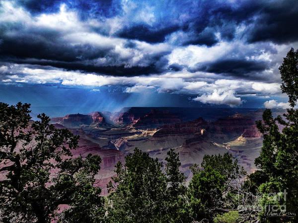 Canyon Rains Art Print