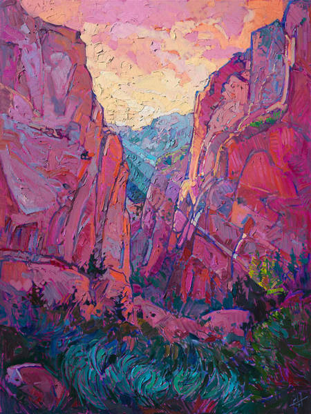 Zion Painting - Canyon Rays by Erin Hanson