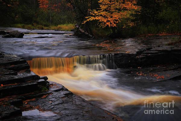Photograph - Canyon River Falls Gold by Rachel Cohen