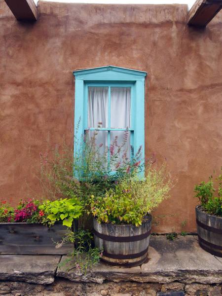 Photograph - Canyon Road Blue Santa Fe by Kurt Van Wagner