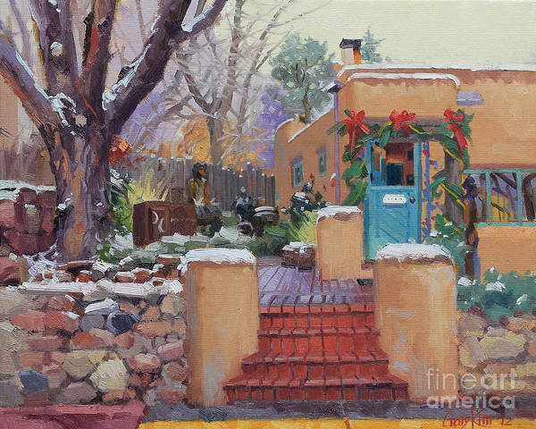 Enchantment Painting - Canyon Road Christmas by Gary Kim
