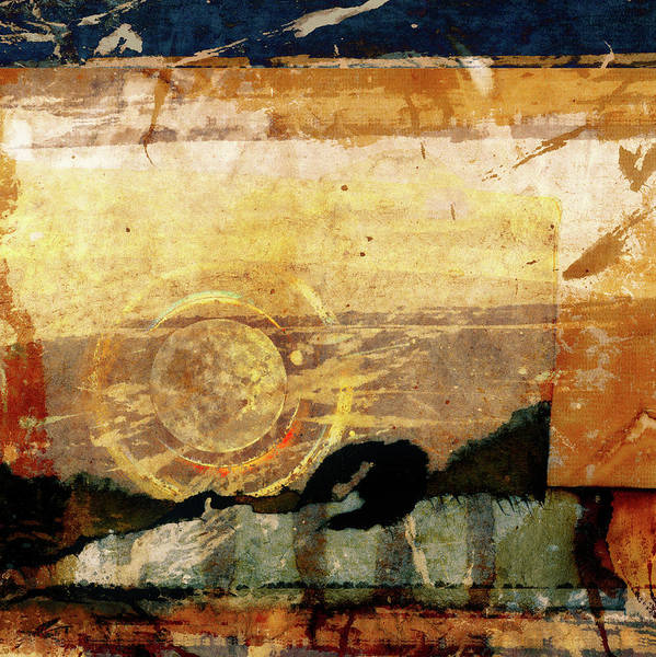 Wall Art - Mixed Media - Canyon Walls Square by Carol Leigh