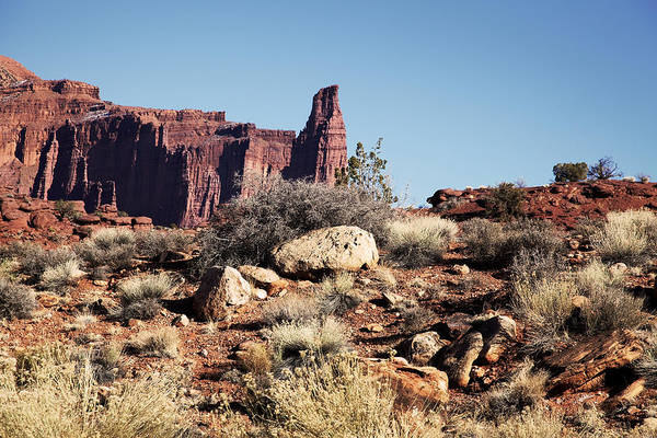 Photograph - Canyonlands National Park Fisher Tower by Mark Smith