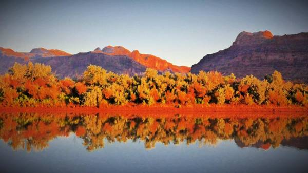 Digital Art - Canyonlands Reflection by Barkley Simpson