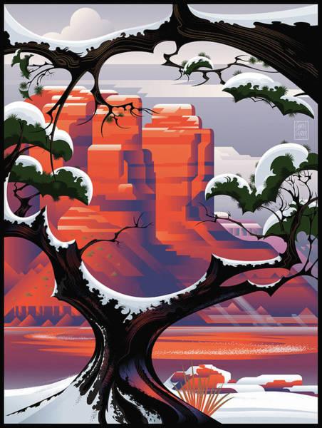 Pine Valley Digital Art - Sedona In Winter by Garth Glazier