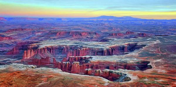 Wall Art - Photograph - Canyonlands Sunset - No1 - Painted by Nikolyn McDonald