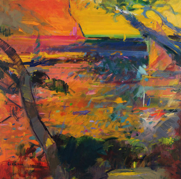 Southern France Painting - Cap Canaille Sunset by Peter Graham