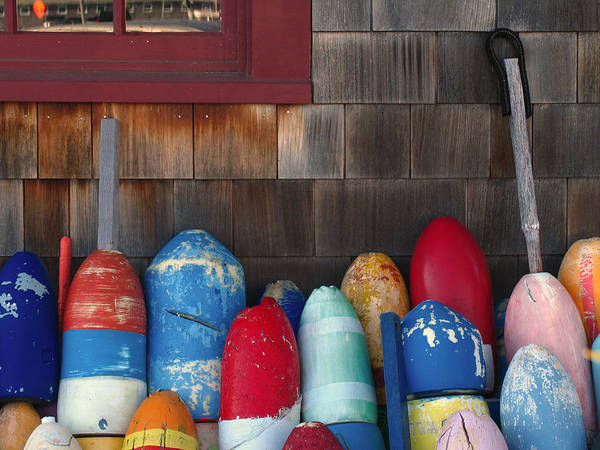 Photograph - Cape Ann Buoys by Juergen Roth