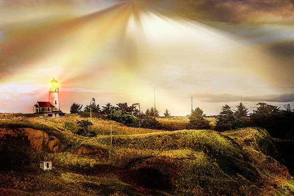 Photograph - Cape Blanco Lighthouse Sunset by Debra and Dave Vanderlaan