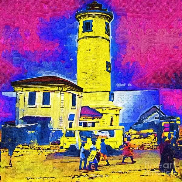 Ghana Painting - Cape Coast Lighthouse Ghana by Deborah Selib-Haig DMacq