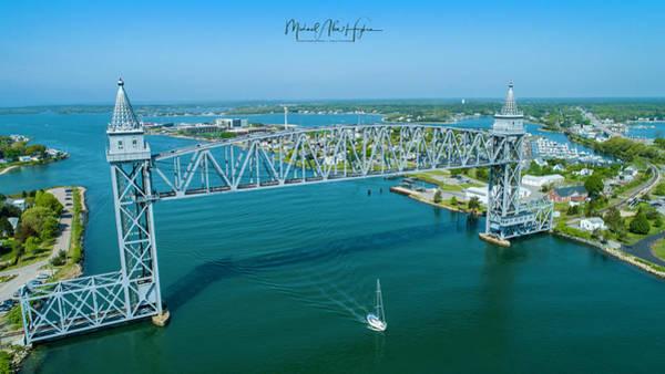 Photograph - Cape Cod Canal Suspension Bridge by Michael Hughes