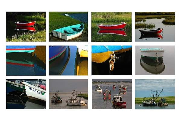 Photograph - Cape Cod Fishing Boat Collection by Juergen Roth
