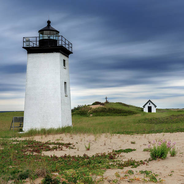 Photograph - Cape Cod Long Point Lighthouse Square by Bill Wakeley