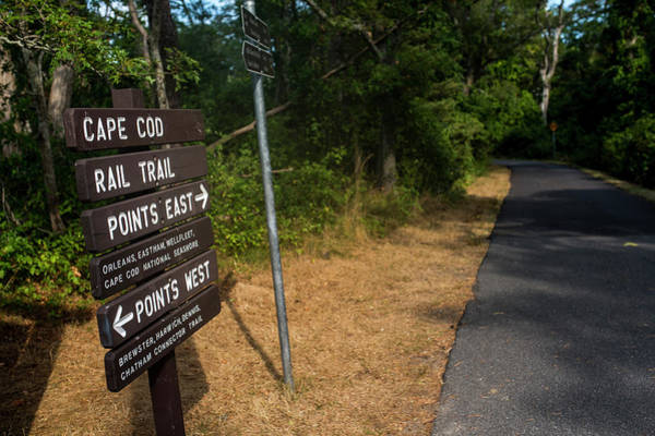 Photograph - Cape Cod Rail Trail Sign Eastham Path by Toby McGuire