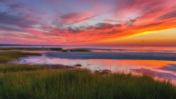 Cape Cod Sunset Photograph - Cape Cod Skaket Beach Sunset by Bill Wakeley