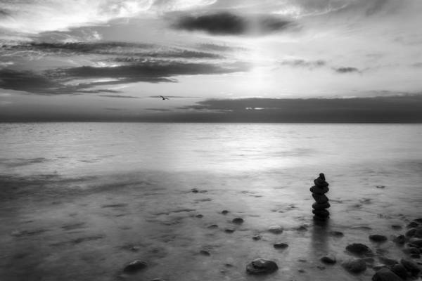 Photograph - Cape Cod Zen Bw by Bill Wakeley