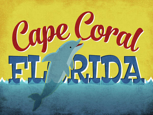Advertisement Digital Art - Cape Coral Florida Dolphin by Flo Karp