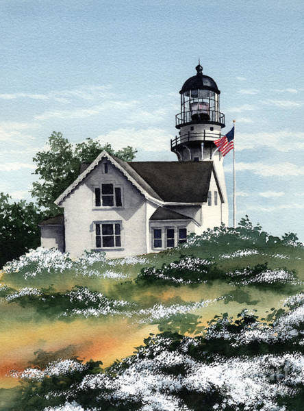 Cape Elizabeth Lighthouse Art Print