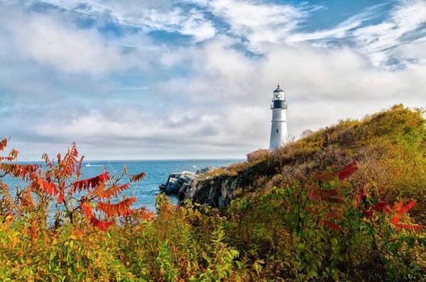 Photograph - Cape Elizabeth Maine - Portland Head Lighthouse by Bill Cannon