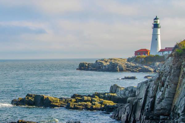 Photograph - Cape Elizabeth Maine - The Portland Head Lighthouse by Bill Cannon