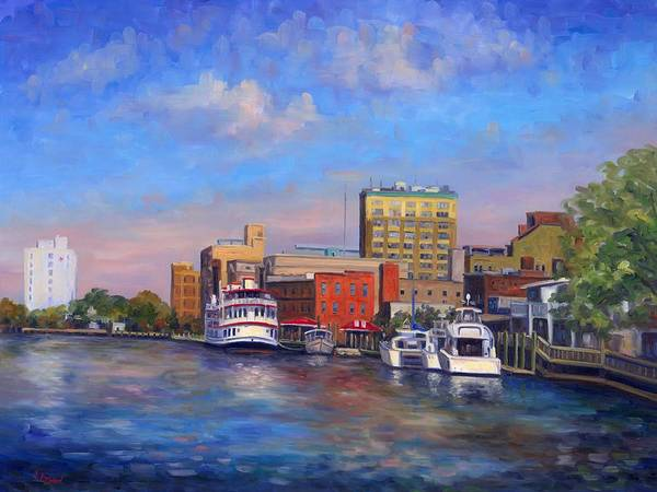 Riverboat Painting - Cape Fear Afternoon by Jeff Pittman