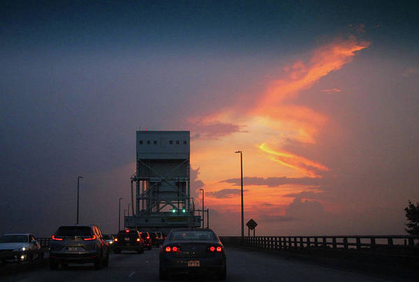 Photograph - Cape Fear Bridge At Sunset by Cynthia Guinn