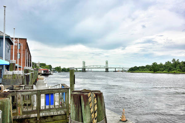 Wall Art - Photograph - Cape Fear Memorial Bridge - Wilmington North Carolina by Brendan Reals
