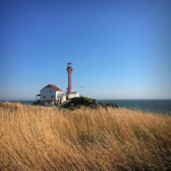 Yarmouth Photograph - Cape Forchu Lighthouse 1 by Christine Sharp