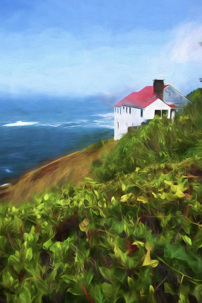 Wall Art - Painting - Cape Foulweather by Bonnie Bruno