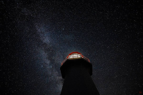 Photograph - Cape Gaspe Light And Milky Way 1 by John Meader