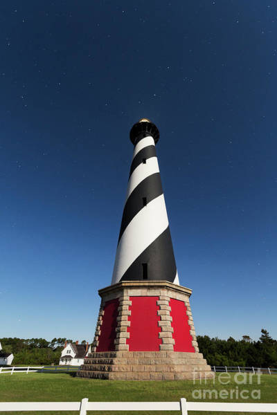 Photograph - Cape Hatteras Lighthouse At Night by Richard Sandford