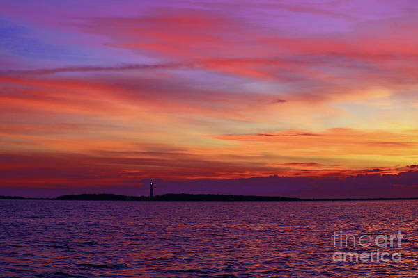 Harkers Island Photograph - Cape Lookout Lighthouse At Sunrise by Marty Fancy