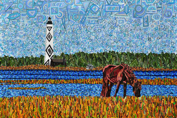 Wall Art - Painting - Cape Lookout by Micah Mullen