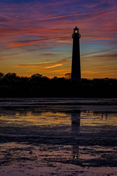 Cape May Lighthouse Photograph - Cape May Afterglow by Rick Berk