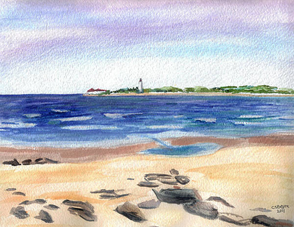 Cape May Painting - Cape May Beach by Clara Sue Beym