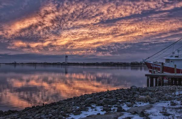 Photograph - Cape May Harbor Sunrise by Tom Singleton