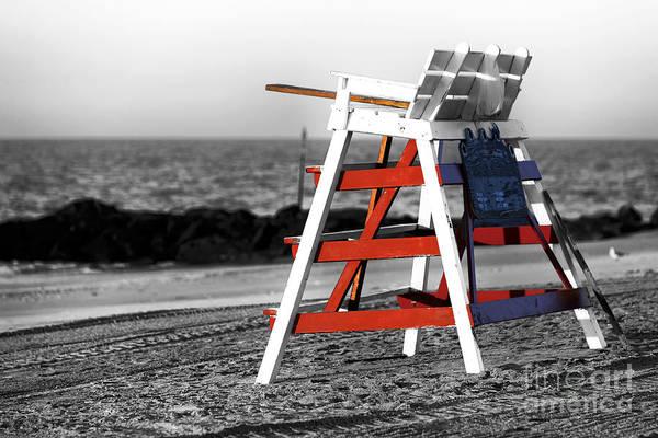 Wall Art - Photograph - Cape May Lifeguard Chair Fusion by John Rizzuto