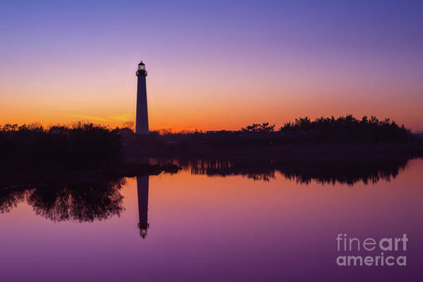 Cape May Lighthouse Photograph - Cape May Lighthouse At Blue Hour  by Michael Ver Sprill