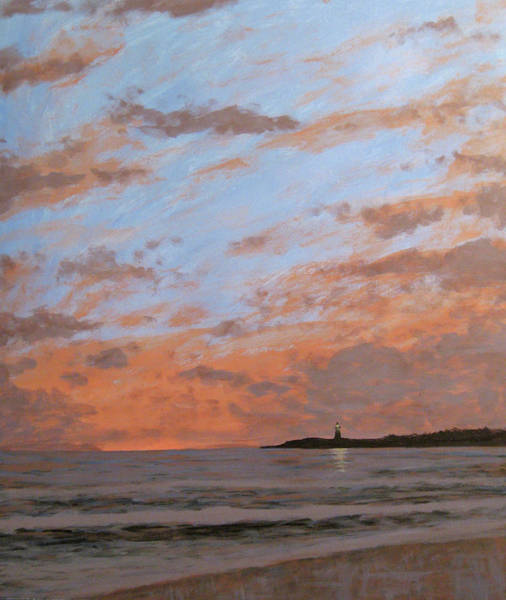 Cape May Painting - Cape May Lighthouse At Dusk by Matthew Hannum