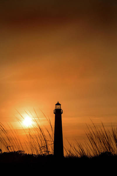 Photograph - Cape May Lighthouse At Sunset by Don Johnson