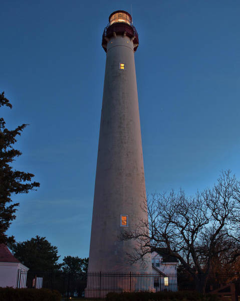 Photograph - Cape May Lighthouse In Evening by Kristia Adams