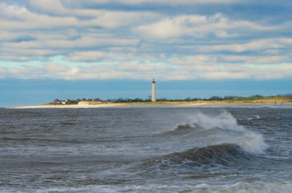 Photograph - Cape May Lighthouse Seascape by Bill Cannon