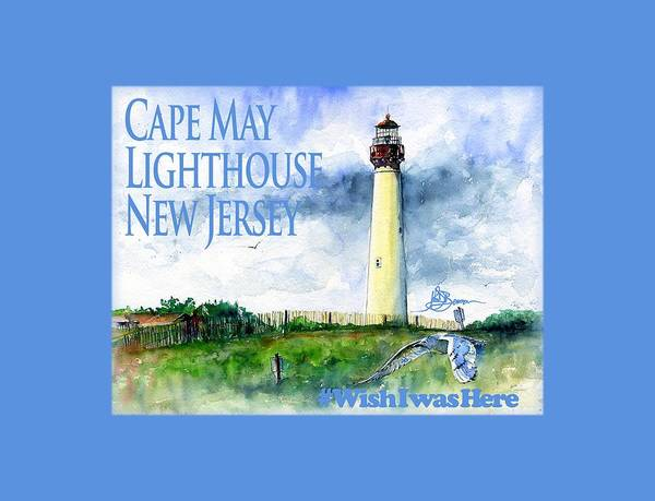 Cape May Painting - Cape May Lighthouse Shirt by John D Benson